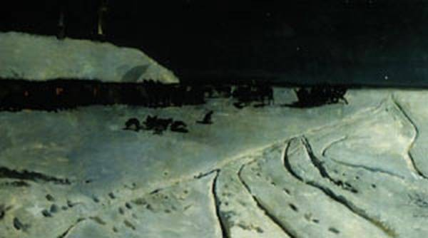 Ukrainian night during a winter 1877 xx national museum in w